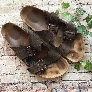 Birkenstock Arizona Suede Leather Sandal 11
